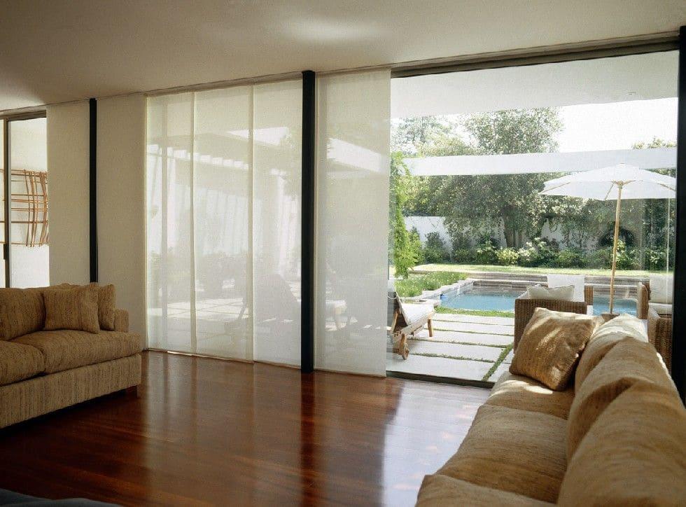 cortinas para sala en Cancún modelo de panel