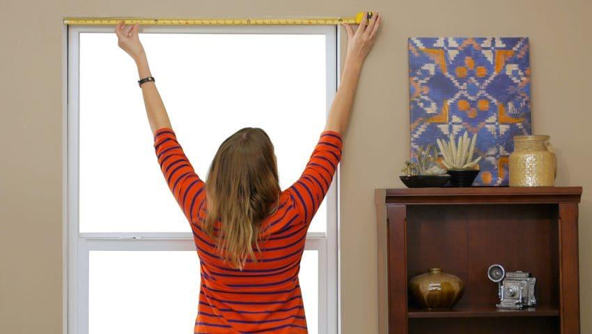 medir bien las ventanas para cortinas y persianas