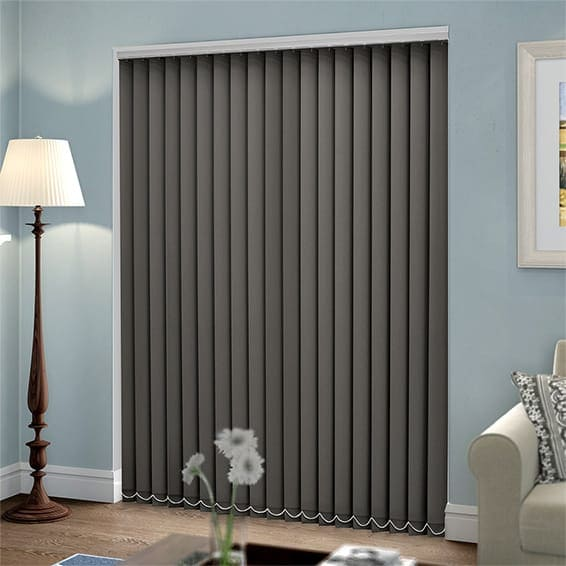 cortinas y persianas color gris